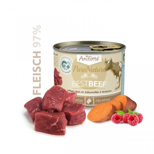 AniForte Pure Nature Best Beef Nass Rind Süßkartoffeln