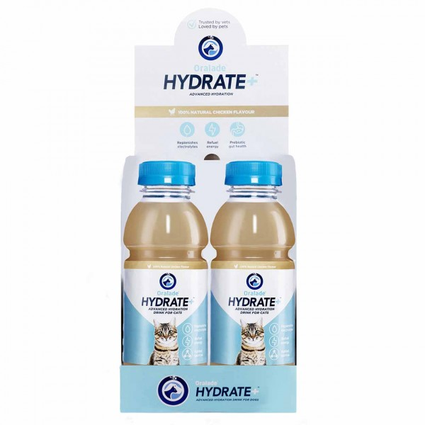 Oralade Hydrate+ Katze 6 x 330ml
