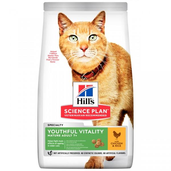 Hills Science Plan Katze Adult 7+ Youthful Vitality Huhn