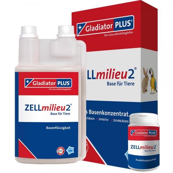 Gladiator Plus ZELLmilieu2 Base + Pulver Tiere