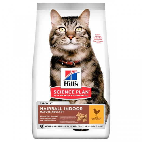 Hills Science Plan Katze Mature Adult 7+ Hairball Indoor Huhn 1,5kg