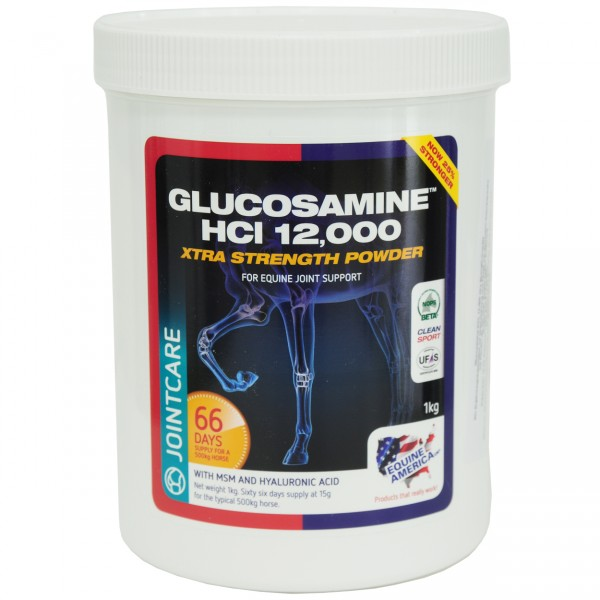 Equine Glucosamine HCL 12000 plus MSM HA Powder
