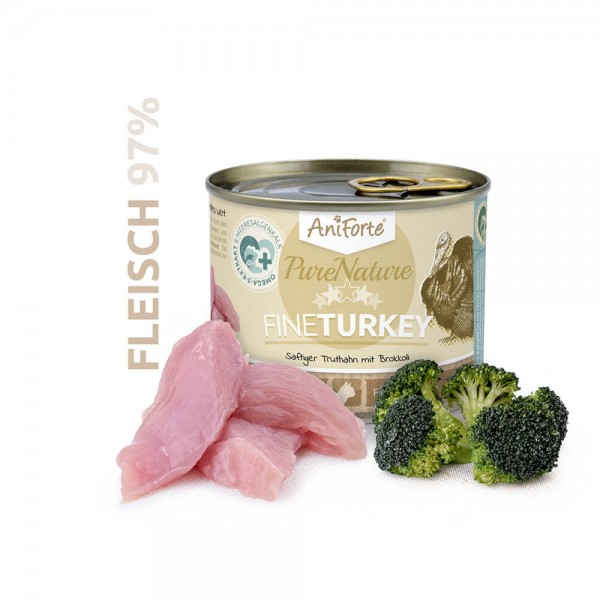 AniForte Pure Nature Fine Turkey Nass Truthahn Brokkoli