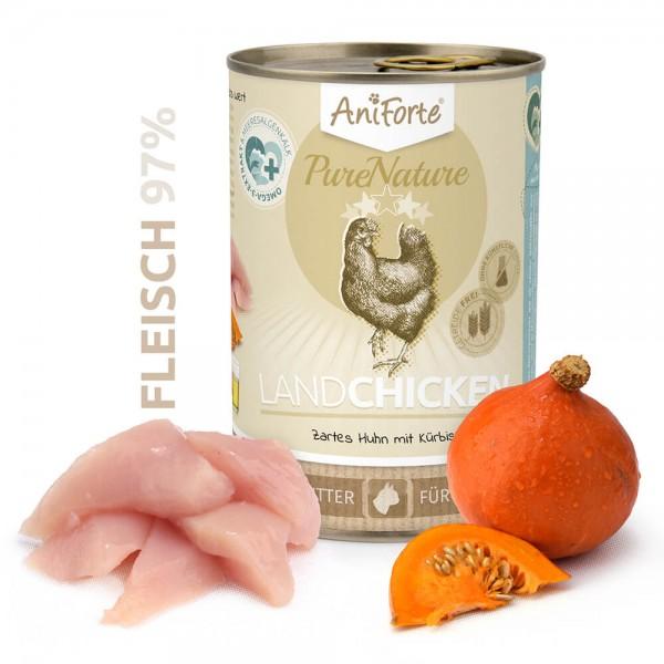 Aniforte Pure Nature Land Chicken Nass Huhn Kürbis