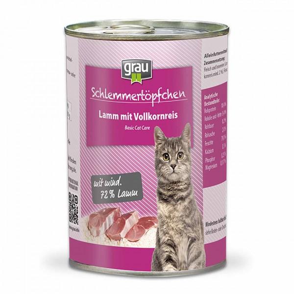 Grau Basic Cat Care Lamm mit Vollkornreis
