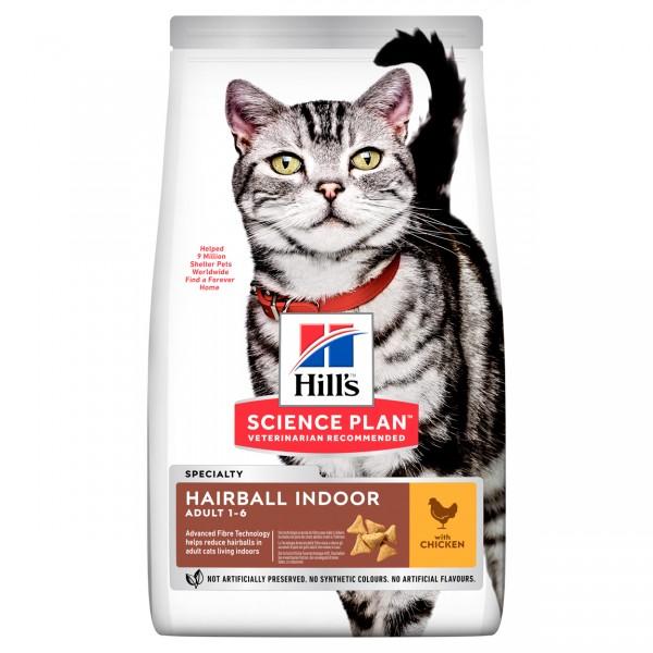 Hills Science Plan Katze Adult Hairball Indoor Huhn