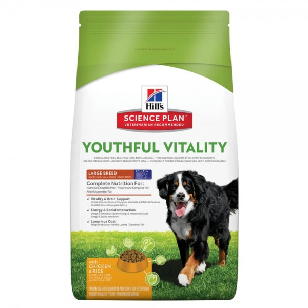 Hills Science Plan Hund Adult 6+ Youthful Vitality Large Breed Huhn 2,5kg