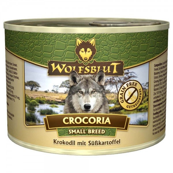 Wolfsblut Crocoria Small Breed Nassnahrung 3x200g