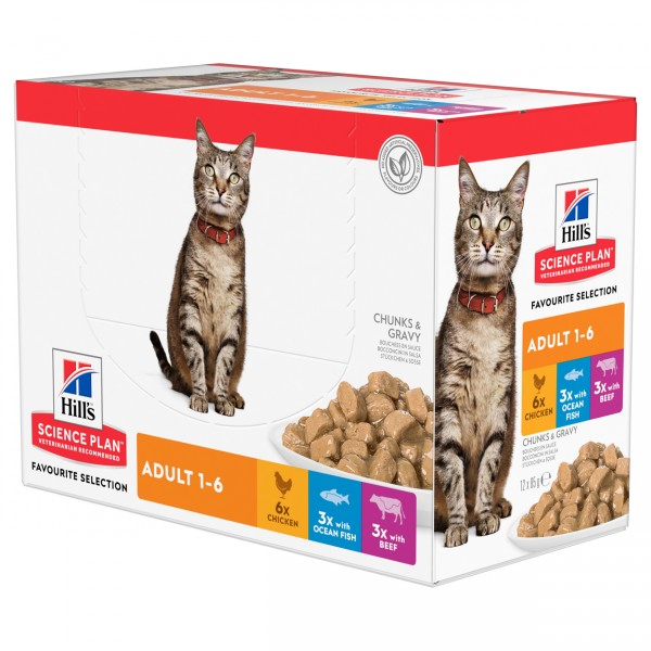 Hills Science Plan Katze Adult Frischebeutel Nassfutter