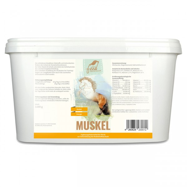 Natural Feed Muskel 3000g