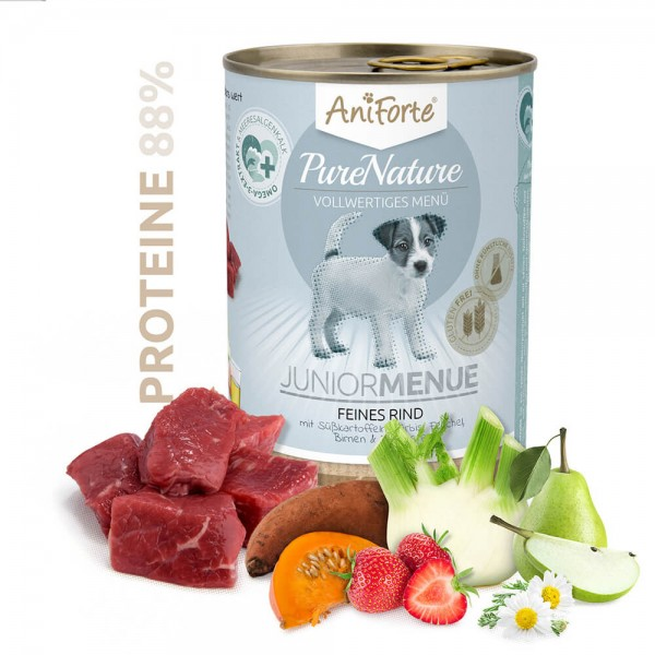 AniForte Pure Nature Junior Menue Rind Nass