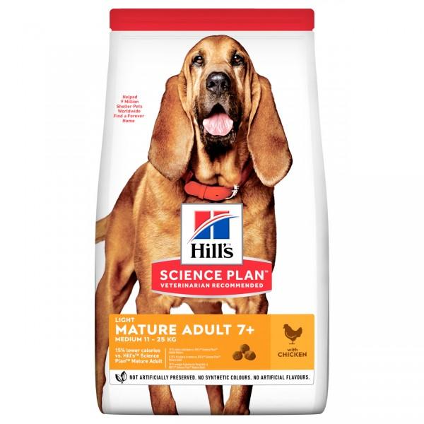 Hills Science Plan Hund Mature Adult 7+ Light Medium Huhn 2,5kg
